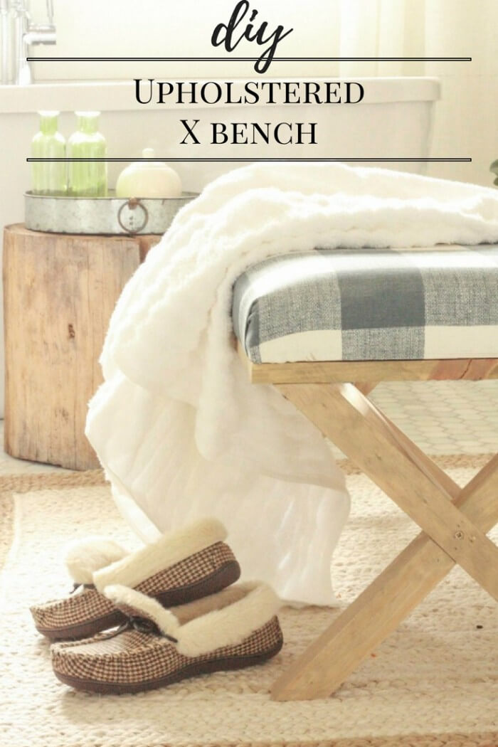 DIY | Upholstered Bench | X Bench | Upholstered X Bench | X Bench Coffee Table