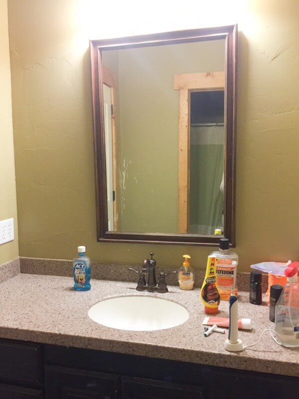 This ugly bathroom was in dire need of a budget friendly bathroom makeover, You have to see the after!!