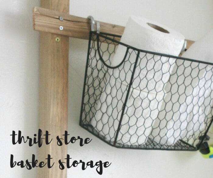 Create Thrift Store Basket Storage