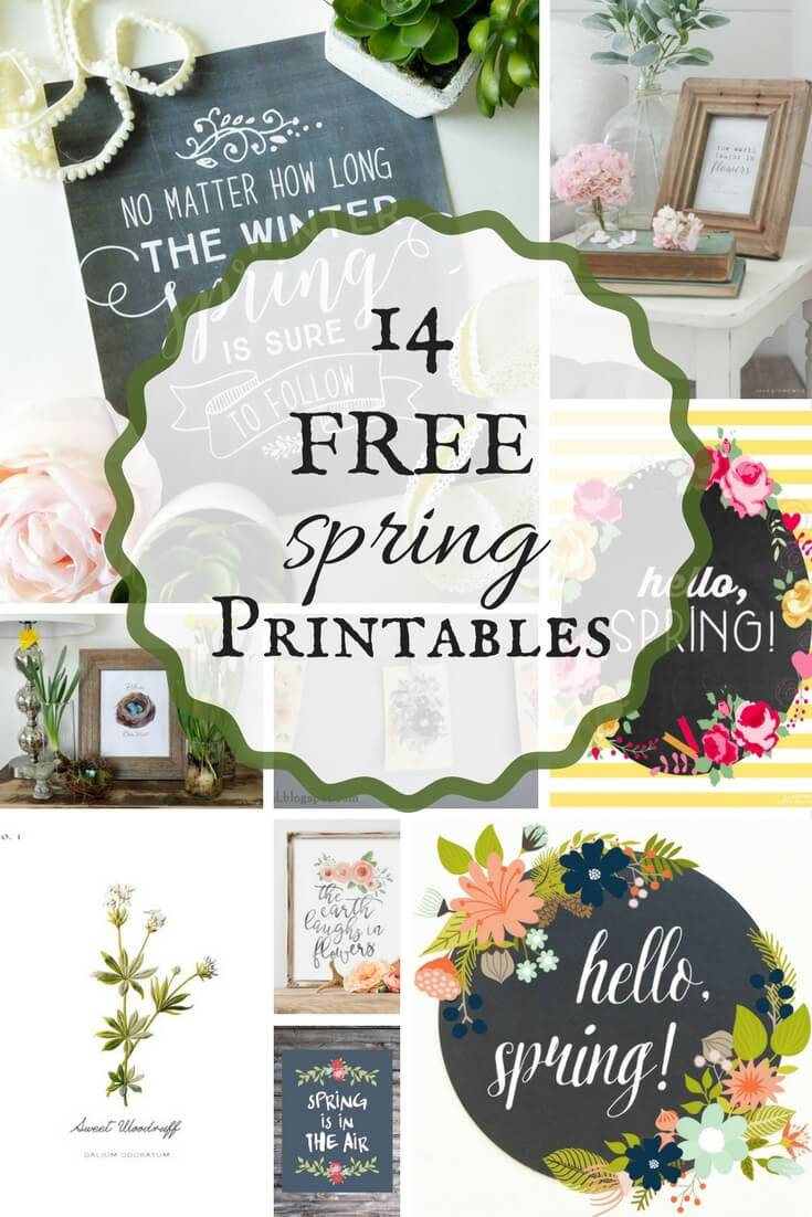 Check out these 14 Inspiring FREE spring printables and brighten up your space!