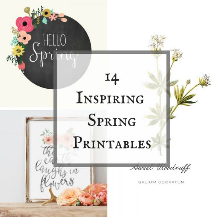 These 14 inspiring spring printables are the perfect way to brighten up your home for spring.
