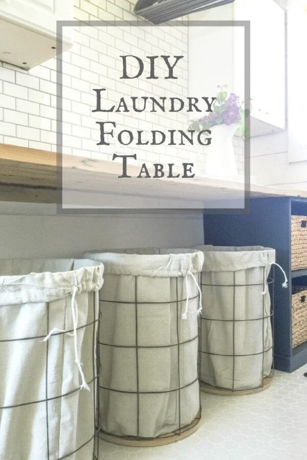 This DIY laundry folding table is a great DIY project or home project for the beginner or novice!