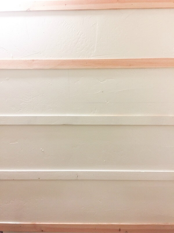 Applying this DIY reverse shiplap wall treatment is so easy and inexpensive!