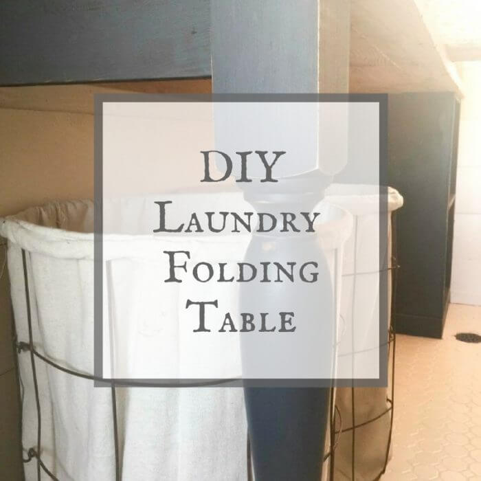 DIY Laundry Folding Table