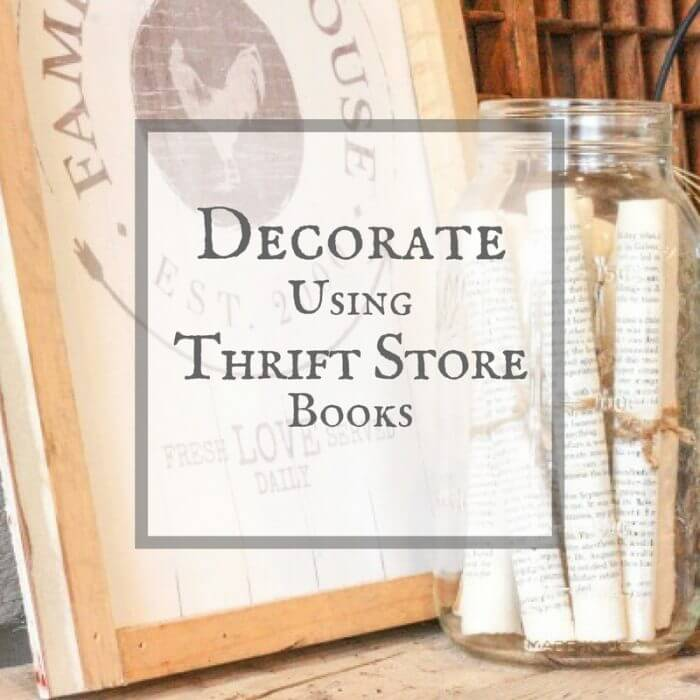 I love to decorate using thrift store books. See how easy this project was!