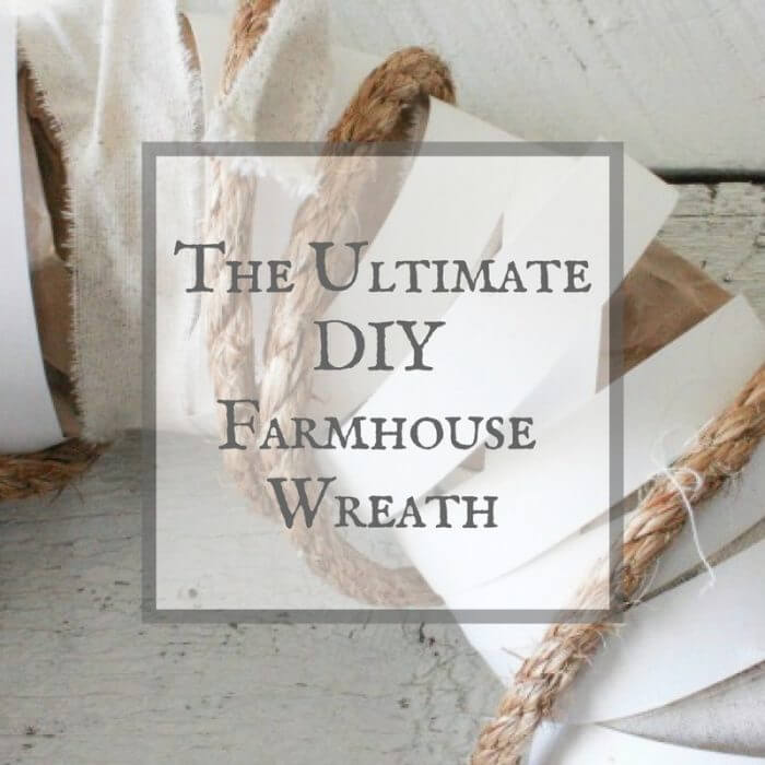 Use random items from home to create the ultimate DIY farmhouse wreath.
