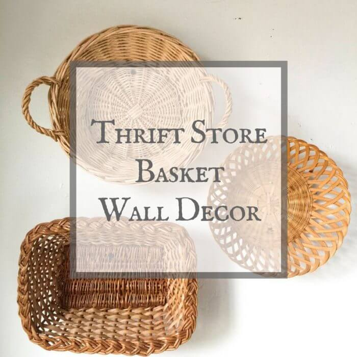 Wall Baskets Decor basket wall decor from a thrift store - twelve on main