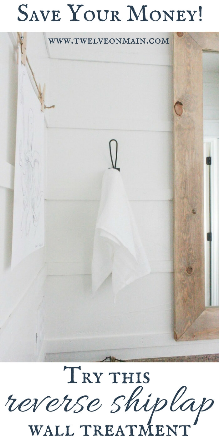 Use this DIY reverse shiplap to create a stylish farmhouse style for less than traditional shiplap!