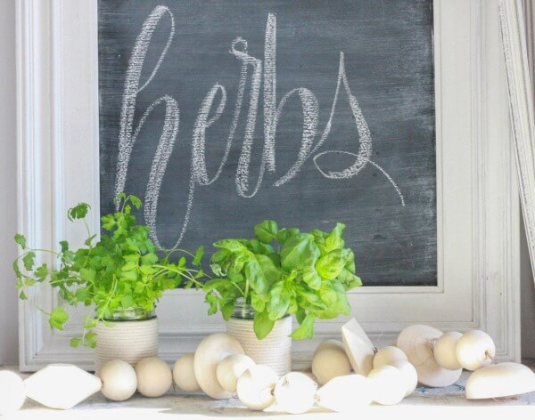DIY mason jar herb planters for the win! This 10 minute DIY project is the perfect project for the weekend!