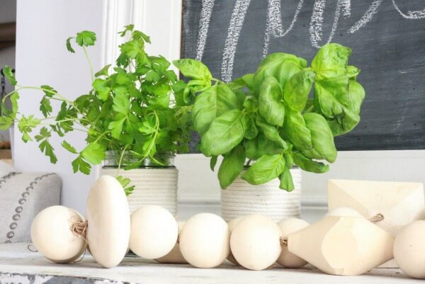 Looking for a really simple DIY project? Try these 10 minute DIY mason jar herb planters!
