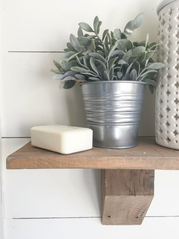 DIY Rustic Farmhouse Shelves | Remodelaholic