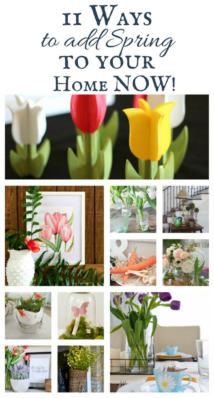 As the weather warms, its nice to update your decor .. Add spring to your home right nowwith these 11 awesome ideas. Whats your favorite?