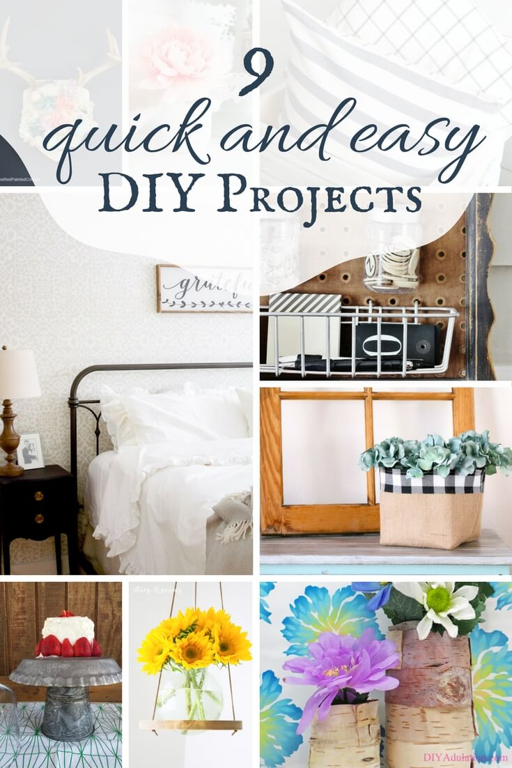 I am always looking for quick and easy DIY projects! Check out these DIY projects that can be done in under 1 hour!