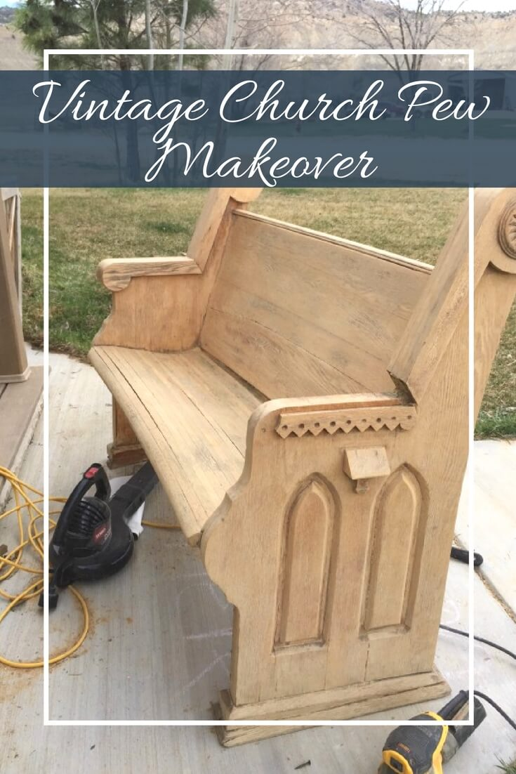 Check out this church pew bench makeover and see if one would work in your home!