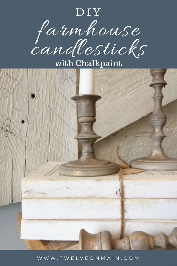 Do you love the farmhousedecor? Want to make some amazing DIY farmhouse candlesticks with chalkpaint? It is a simple home decor project!