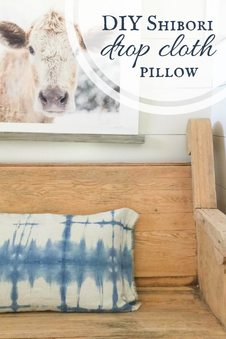 Have you ever tried Shibori Indigo Dyeing? Check out this DIY shibori drop cloth pillow! The possibilities are endless! Try it out!
