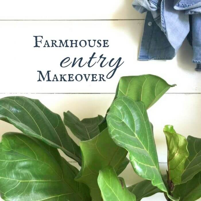 Farmhouse Entry Makeover for Under $100