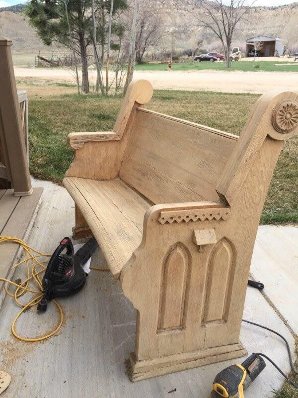 How to update an old vintage church pew bench!!