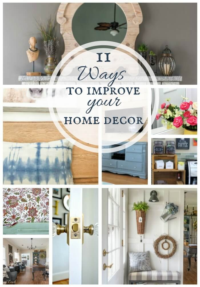 Check out these ways to improve your home decor! Sometimes all it takes is something simple to make a big impact.