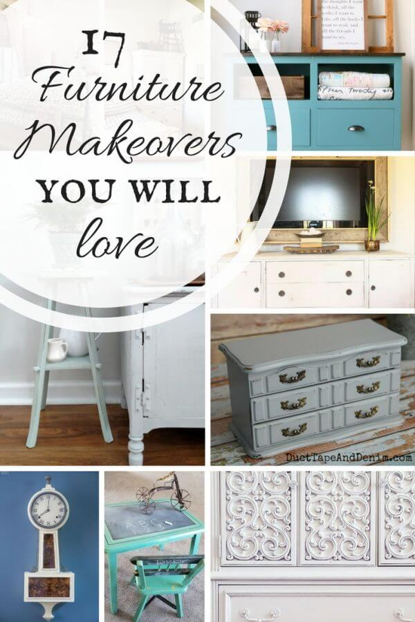 Looking for simple DIY project inspiration? Check out these 17 farmhouse painted furniture makeovers that you will love! Transform your home with some of these DIY ideas!