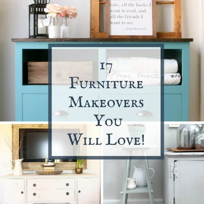 Looking for simple DIY project inspiration? Check out these 17 furniture makeovers that you will love! Transform your home with some of these DIY ideas!