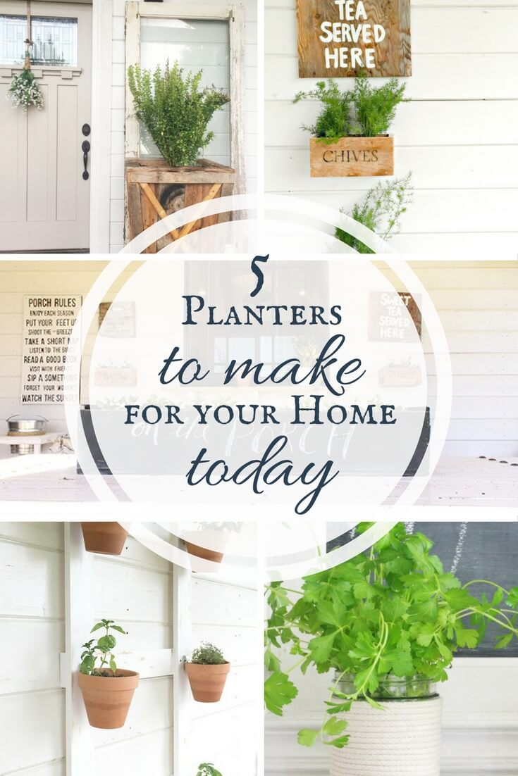 5 DIY planters for the home!