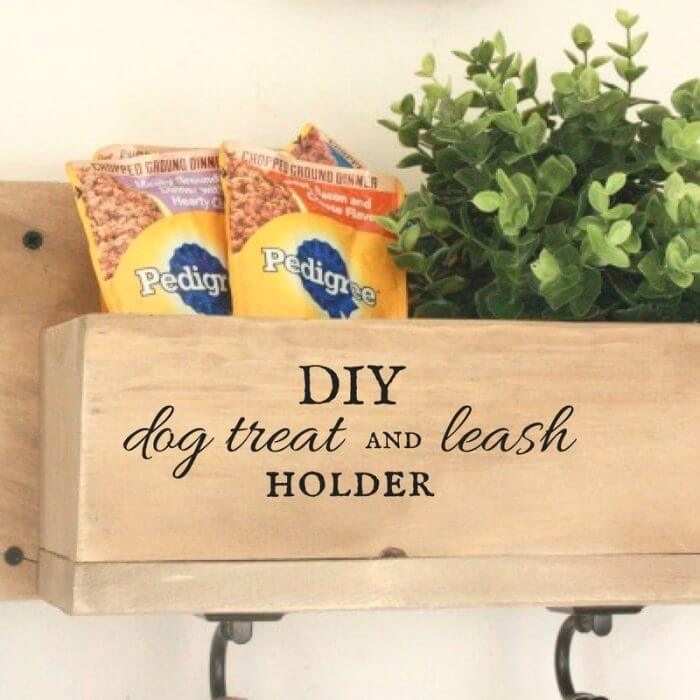 DIY Dog Leash and Treat Holder
