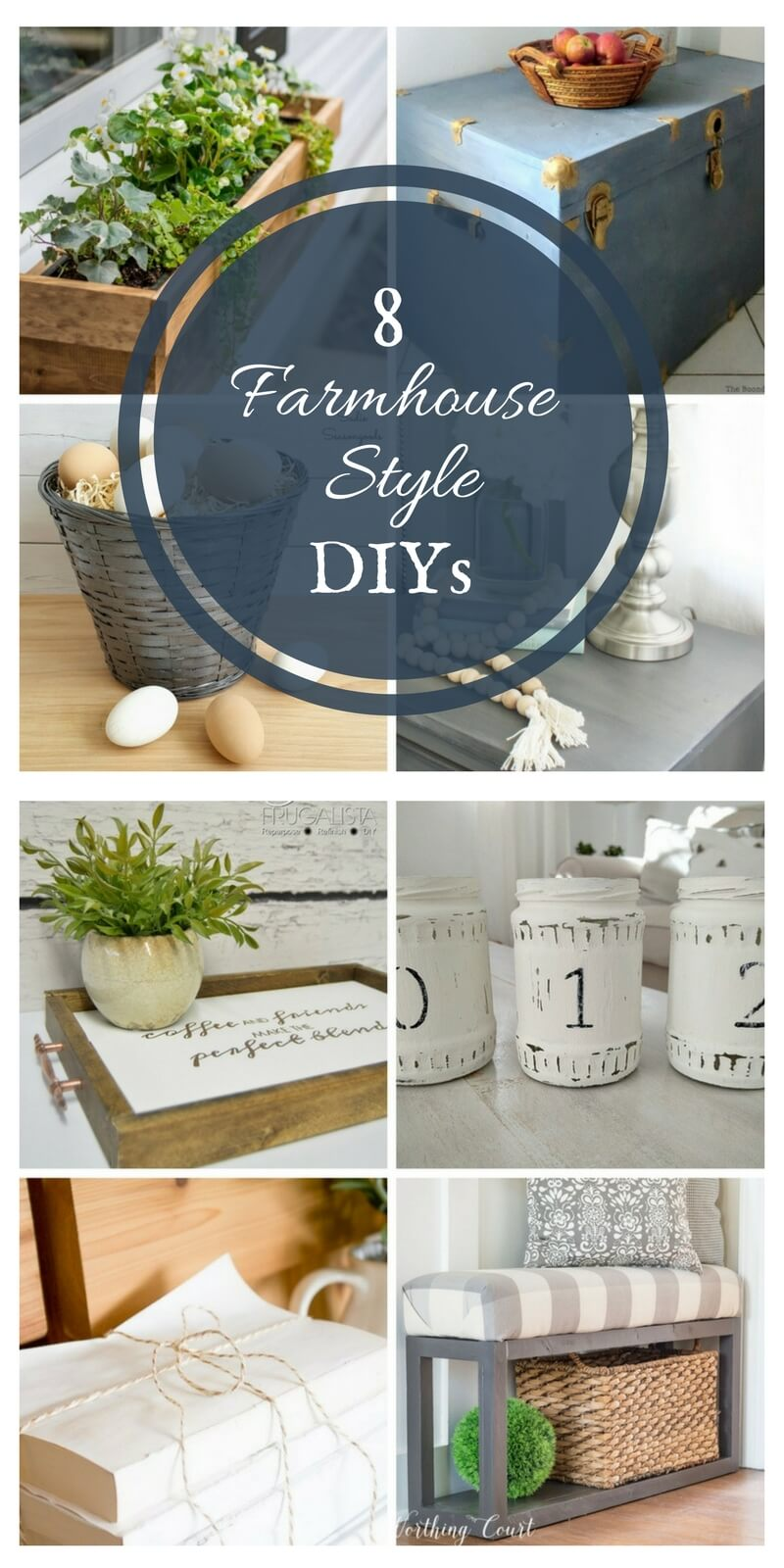 8 Farmhouse Style DIY Projects | Merry Monday Link Party