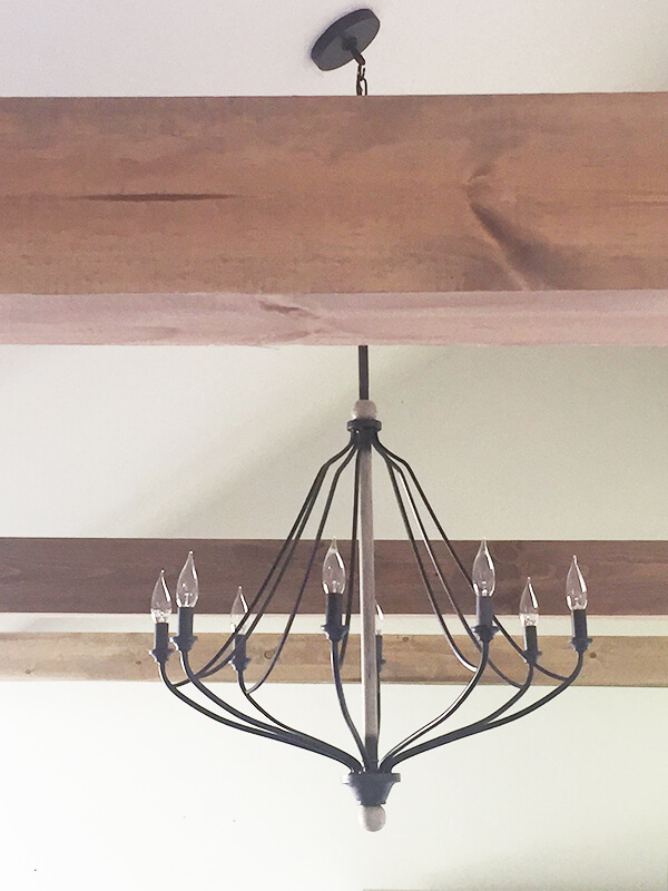 Have you always wanted exposed beams in your home? Well now you can, no matter what! I've got a great DIY faux beams tutorial here!