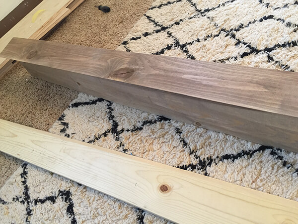 How to make faux wood beams that are easy to install and inexpensive to make!