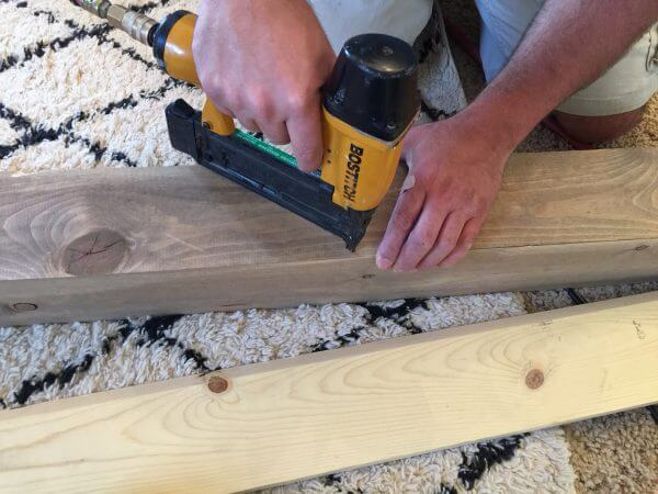 How to make wood beams that look real but are super inexpensive and easy to install!