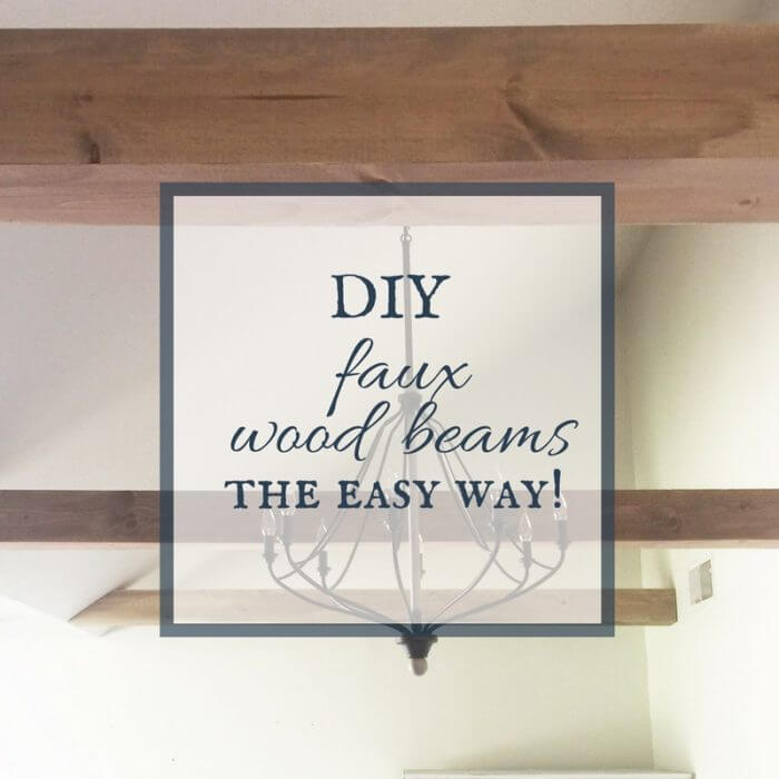 DIY faux wood beams the easy way! Check out this full tutorial!