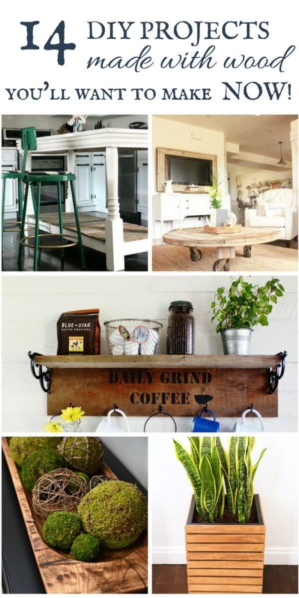 14 easy wood projects that you can do at home this weekend!