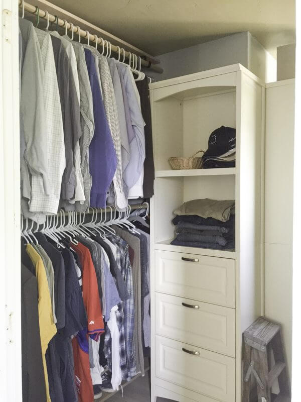 farmhouse style closet | closet organization | organized closet | organization tips | closets | farmhouse closet