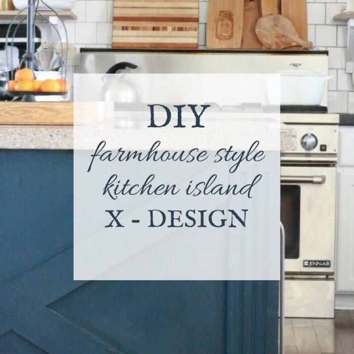 Do It Yourself Kitchen Island X Design