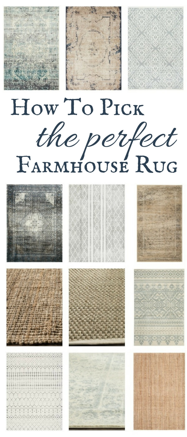 Helpful tips to help you find the perfect farmhouse style rug for your home!