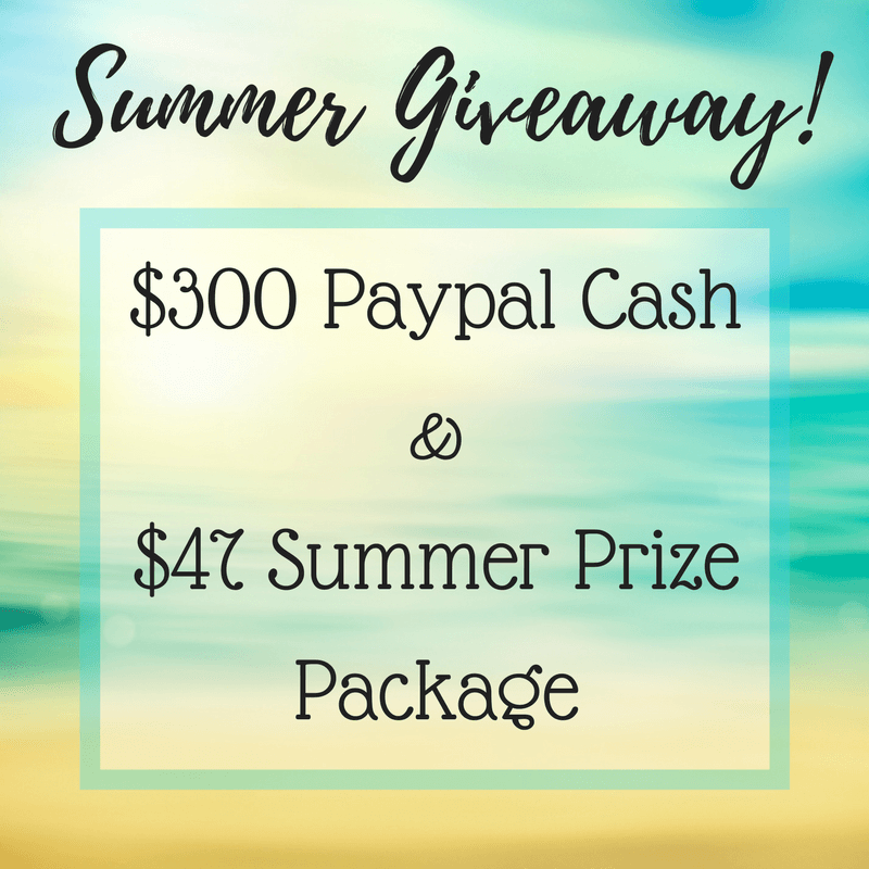 Summer Giveaway! Win $300 Cash!