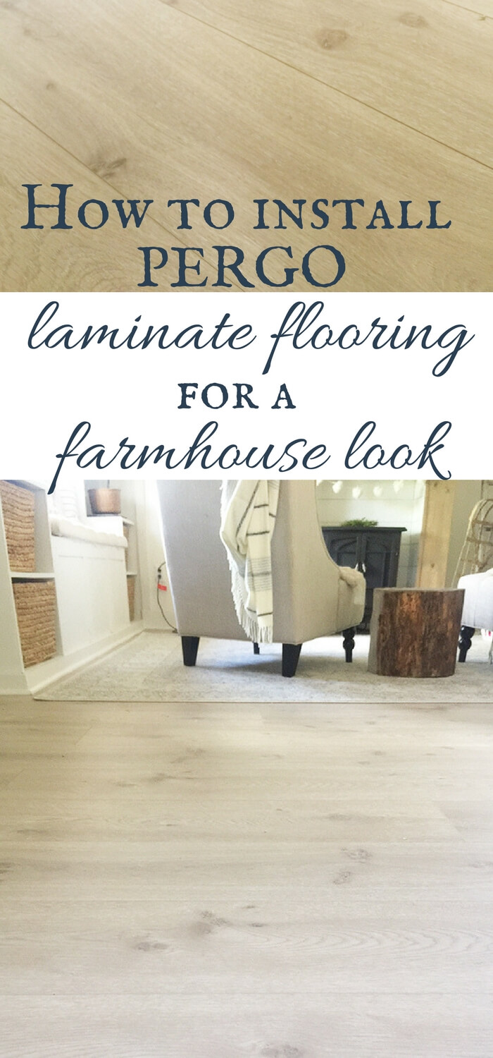 Install Pergo laminate flooring for a farmhouse look | Pergo Modern Oak laminate flooring | laminate flooring | farmhouse style | rustic flooring | modern farmhouse style | master bedroom decor | farmhouse master bedroom