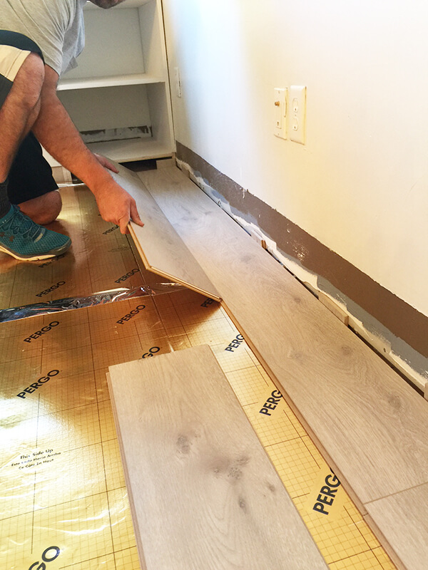Pergo Laminate Flooring this is the first step to connect the pergo casual living laminate flooring planks together Install Pergo Laminate Flooring For A Farmhouse Look Pergo Modern Oak Laminate Flooring Laminate