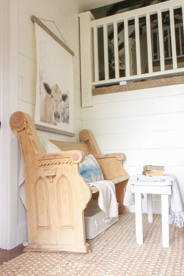 Its easy to update your space each season. Check out my summertime farmhouse entry. Its full of shiplap, raw wood, and summer accessories!