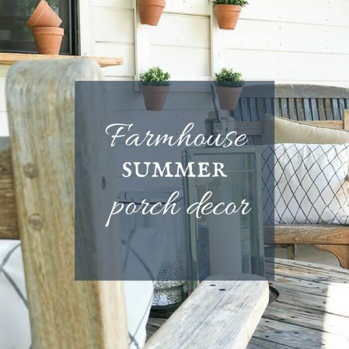 Farmhouse Summer Porch Decor