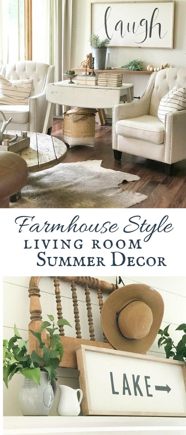 Farmhouse Living Room Ideas for the Summer - Twelve On Main