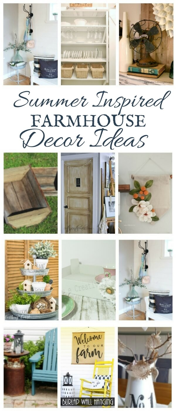 Try updating your home with these summer inspired farmhouse decor ideas! You are sure to find something that will inspire you!