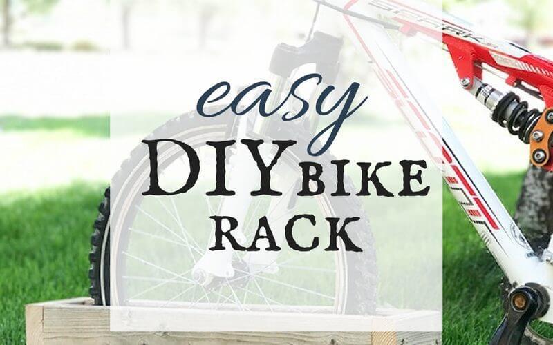 Easy DIY bike rack