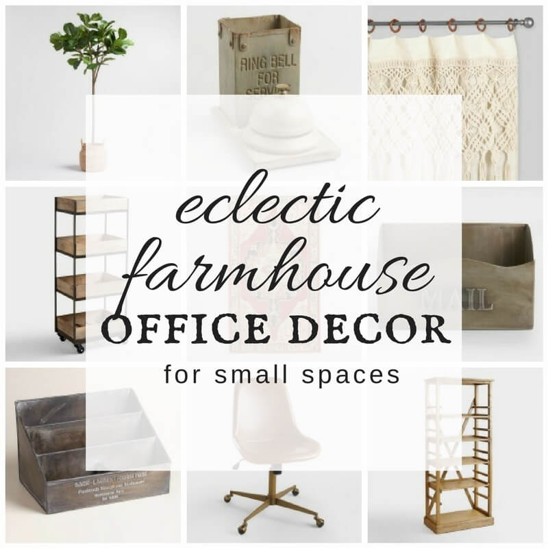 Eclectic Farmhouse Office Decor For Small Es Twelve On