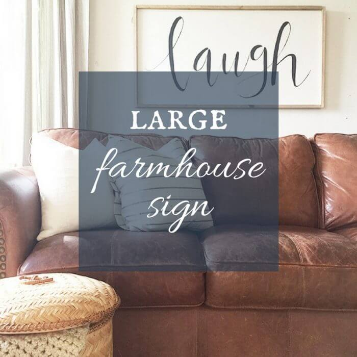 Large Farmhouse Sign | Laugh Often