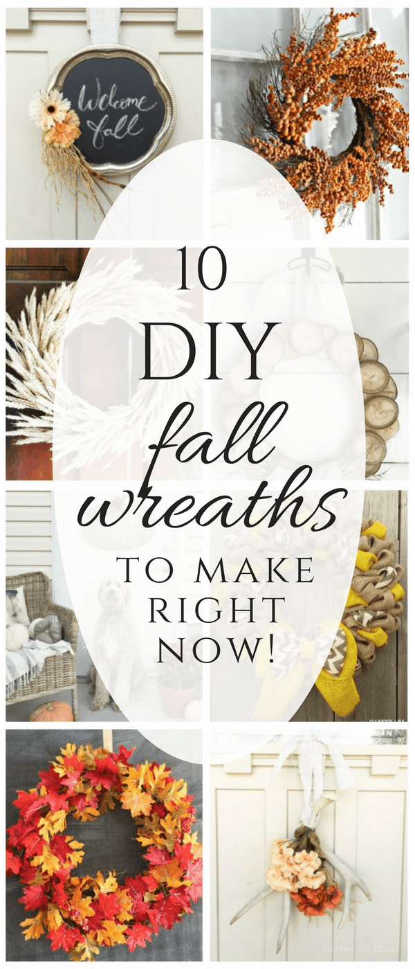 Make one of these easy DIY fall wreaths to add to your fall decor this year! Whether you like farmhouse style, rustic, or repurposed, I have it all!