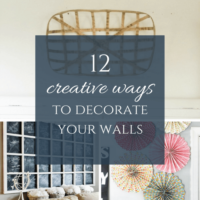 12 creative ways to decorate your walls! Includes easy DIY projects, as well as some really cool re-purpose projects. All budget friendly!