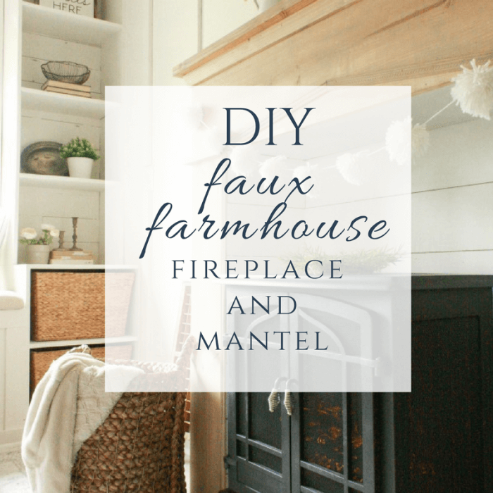 Diy faux fireplace and mantel twelve on main add warmth character and style to your home with this easy diy faux farmhouse style solutioingenieria Images
