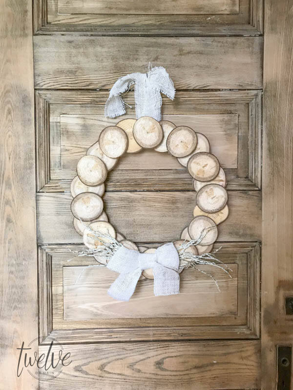 How To Make A Wreath With Wood Slices Twelve On Main